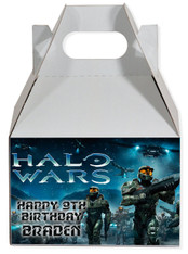 Halo Wars party favor box