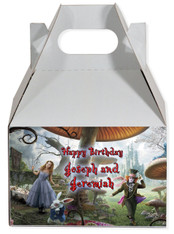 Alice in wonderland the movie party favor box