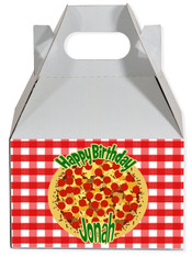 Pizza party favor box