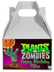 Plants vs Zombies party favor box