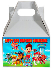 Paw Patrol party favor box