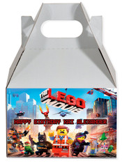 Lego movie party favor box