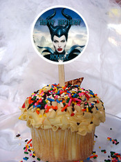 Maleficent cupcake toppers