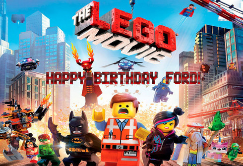 The Lego Movie Personalized Poster
