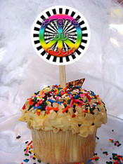 Peace Love Rock Cupcake toppers