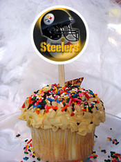 Steelers cupcake toppers
