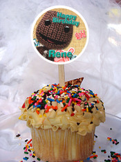 Little Big Planet cupcake toppers