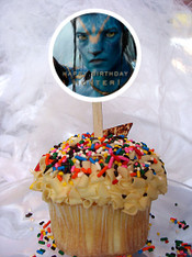 Avatar cupcake toppers