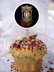 Call of Duty Black Ops II cupcake toppers