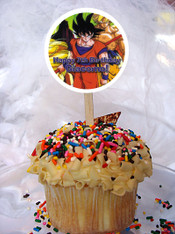 Dragon Ball Z Kai cupcake toppers