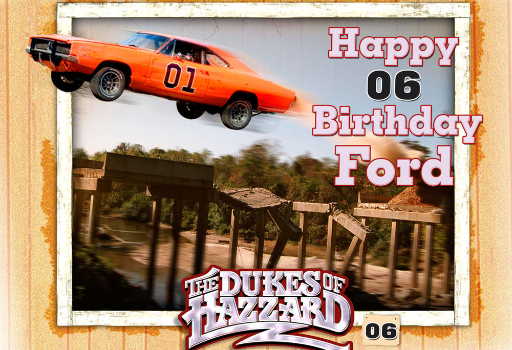 The Dukes Of Hazzard Personalized Poster