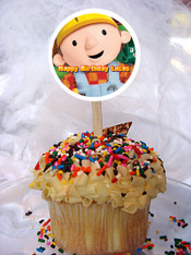 Bob the Builder cupcake toppers