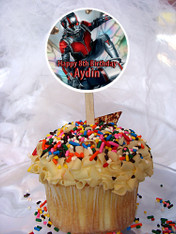 Ant-Man cupcake toppers