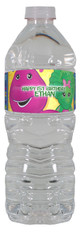 Barney personalized water bottle labels
