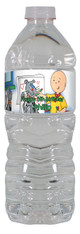 Caillou personalized water bottle labels