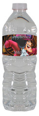 Captain Hook personalized water bottle labels