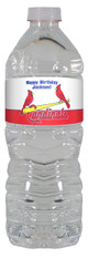 Cardinals personalized water bottle labels