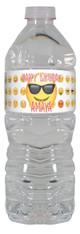 Emoji personalized water bottle labels