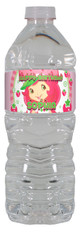 Strawberry Shortcake personalized water bottle labels
