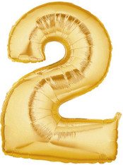 Gold Mylar Balloons number 2