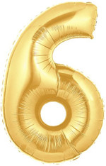 Gold Mylar Balloons number 6