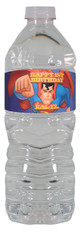 Animated Superman Water bottle label