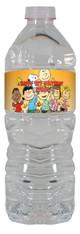 Charlie Brown Peanuts gang water bottle labels