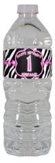 Pink Zebra water bottle labels