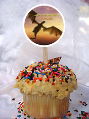 Pete's Dragon cupcake toppers