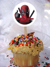 Deadpool Cupcake Toppers