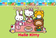 Hello Kitty tea party poster