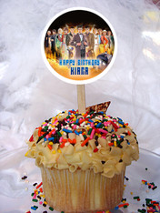 Doctor Who cupcake topper