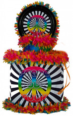 Peace Love Rock Pinata