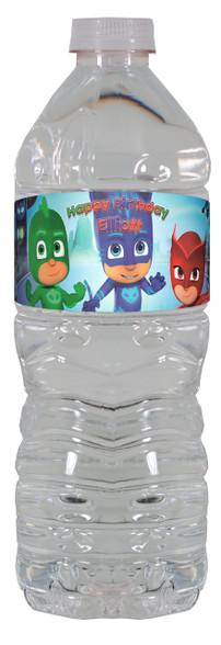 PJ Masks water bottle labels