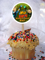 Wild Kratts cupcake toppers