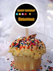 Pac-Man Arcade Game cupcake topper