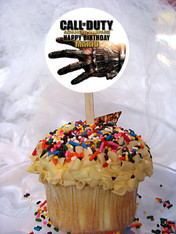 Call of Duty Advanced Warfare cupcake toppers