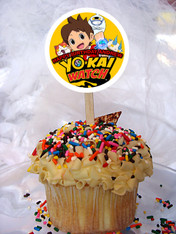 Yo Kai Watch cupcake toppers