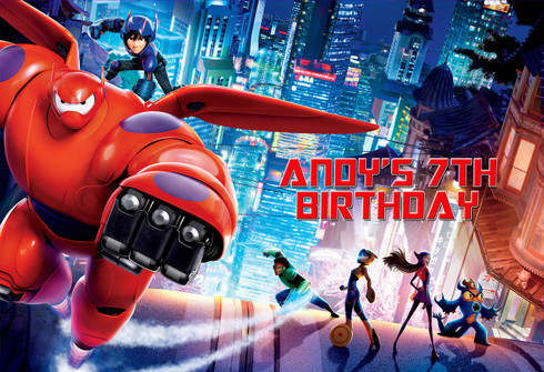 Big Hero 6 Personalized Poster