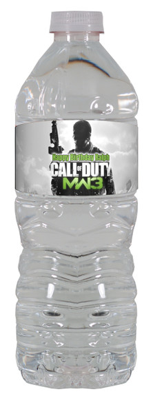Call of Duty MW3 water bottle labels