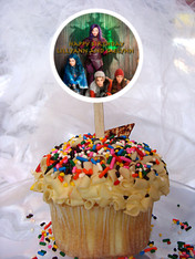 Descendants cupcake toppers
