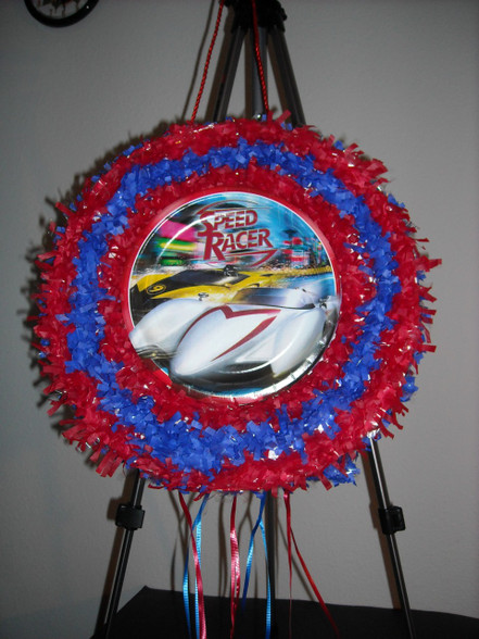 Speed Racer Pull String Pinata