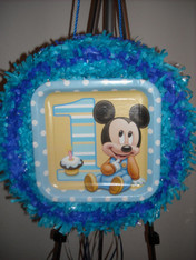 Mickey mouse 1st year pull pinata