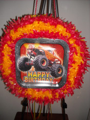 Happy Birthday Monster Truck pull pinata
