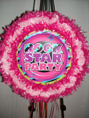 Rock star party pull pinata
