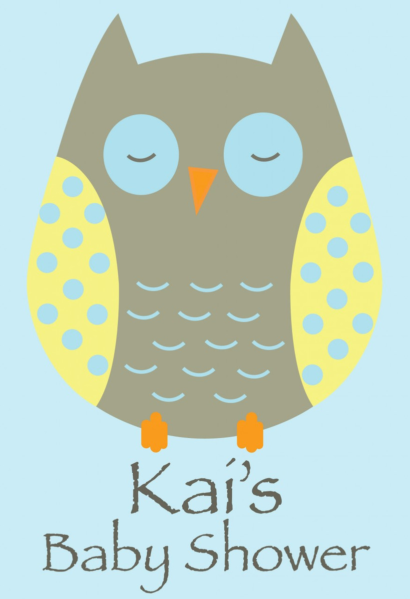 home custom party supplies personalized posters owl baby shower poster