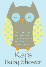 Owl Baby Shower Poster
