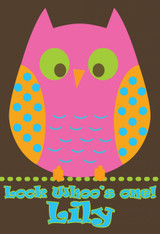 Owl Pink Poster