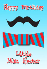 Bow Tie Little Man Personalized Poster