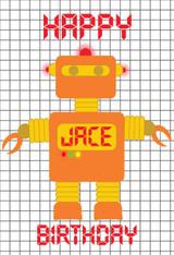 Robot Orange Personalized Poster
